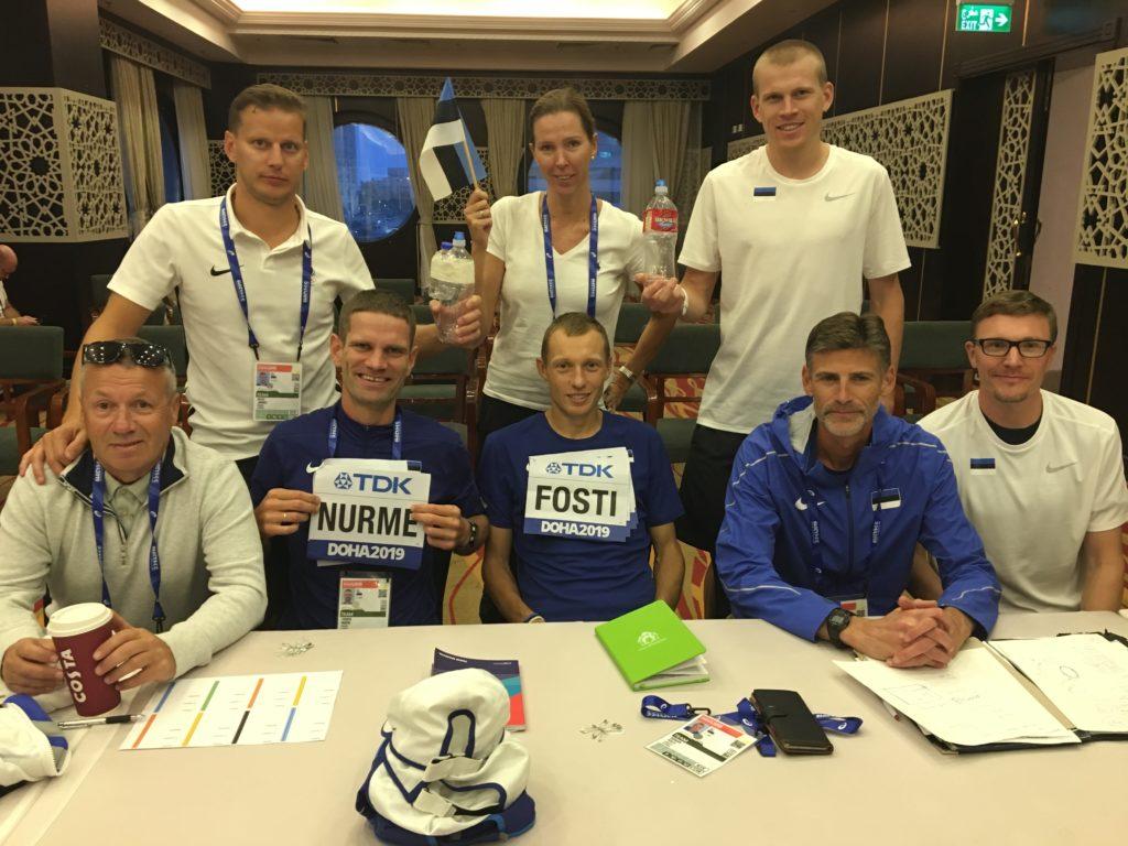Eestlaste meeskond Dohas